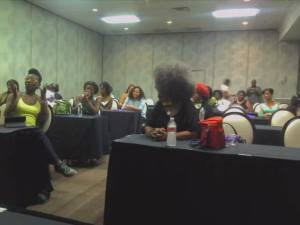 The Las Vegas Bloggers Natural Hair discussion hot topics. Our room was full to capicity, see how God work